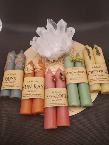 Beeswax Altar Candles by Lit Rituals