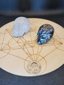 Clear Quartz and Spiderweb Jasper
