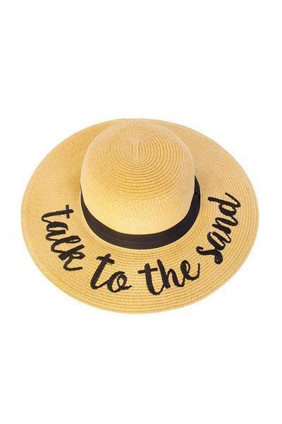 needatstyle.com Accessories Same As The Photo / One Size Talk To The Sand Beach Hat