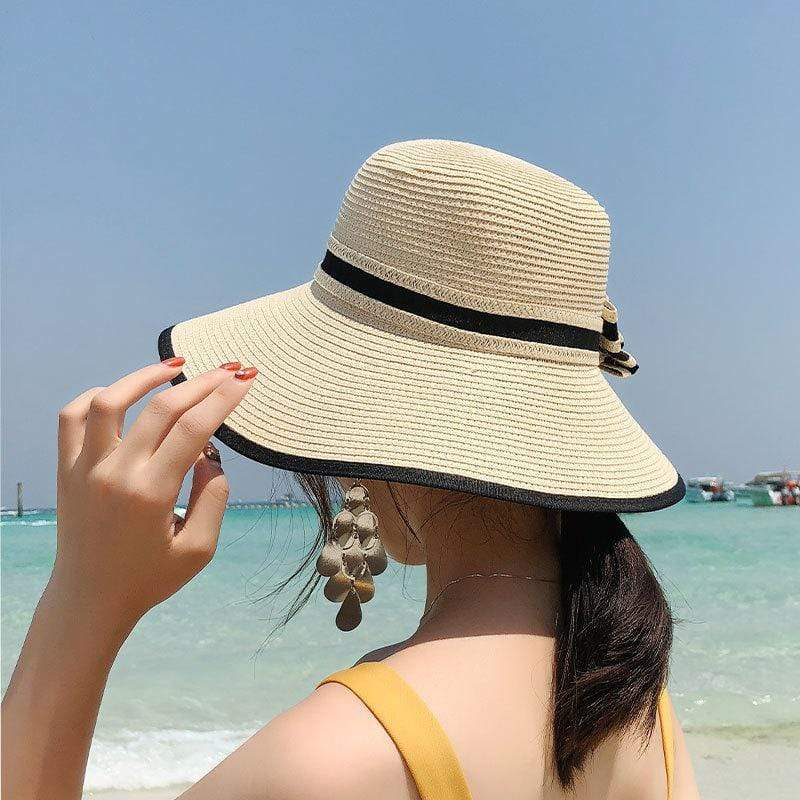 yoyoyoyoga Accessories White Summer Handmade Weave Sun Hat For Women