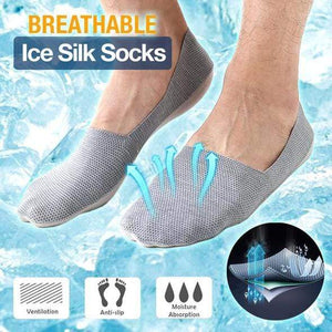 yoyoyoyoga Black 3pcs Unisex Breathable Ice Silk Socks