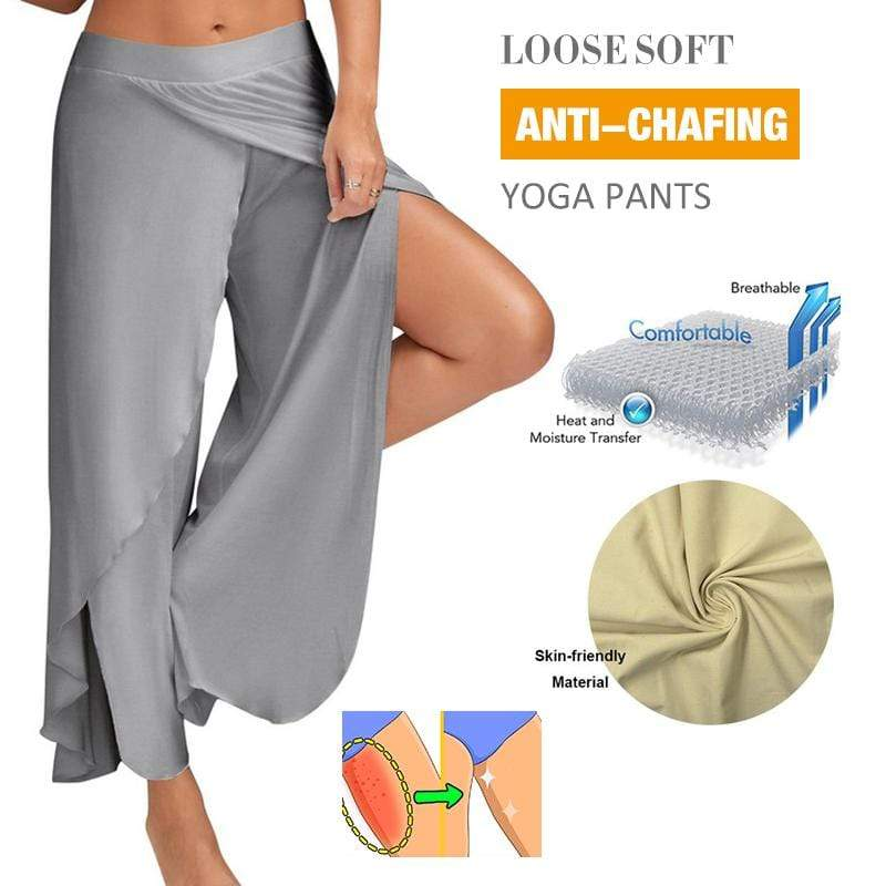 yoyoyoyoga Bottom light grey / S Yoga pants wide leg pants
