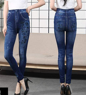 yoyoyoyoga Bottoms 5 / Free Size (40kg-76kg) Comfortable Stretchy Slimming Jeans Printing Leggings