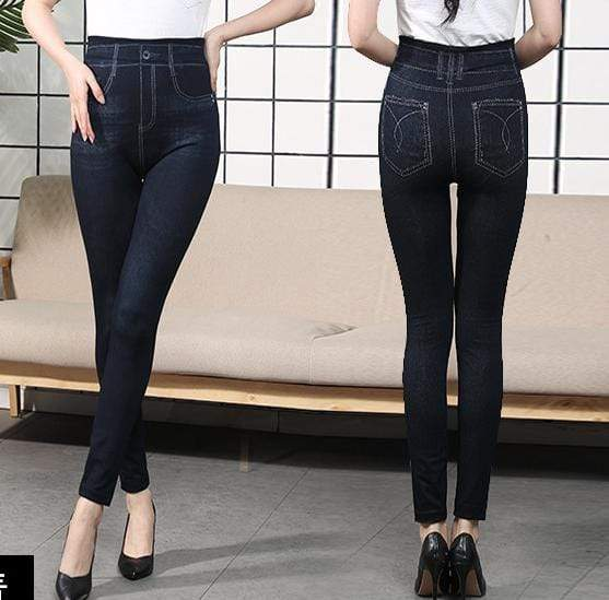 yoyoyoyoga Bottoms 6 / Free Size (40kg-76kg) Comfortable Stretchy Slimming Jeans Printing Leggings