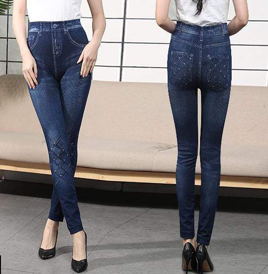 yoyoyoyoga Bottoms 7 / Free Size (40kg-76kg) Comfortable Stretchy Slimming Jeans Printing Leggings