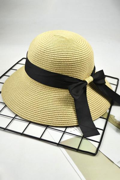 yoyoyoyoga.com Swimsuit Beige / One Size Fisherman Straw Hat Visor