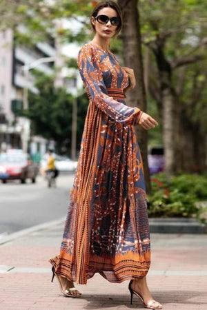 yoyoyoyoga.com Bohemian Dress S Bohemian Long Dress