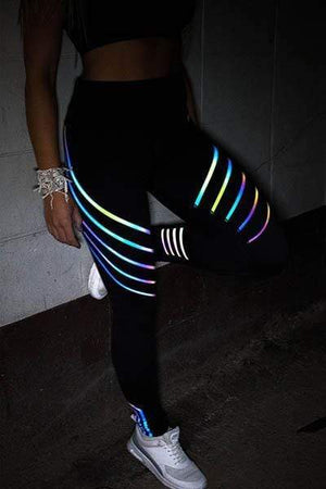 yoyoyoyoga.com Bottom Black / S High Waist Hologram Reflexive Toning Leggings
