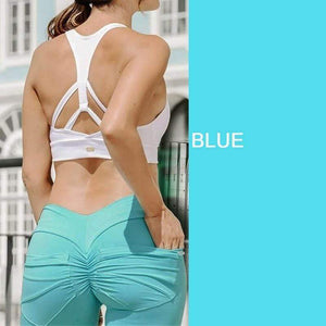 yoyoyoyoga.com Bottom Blue / S Hip Lifting Curve Accentuating Scrunch Leggings
