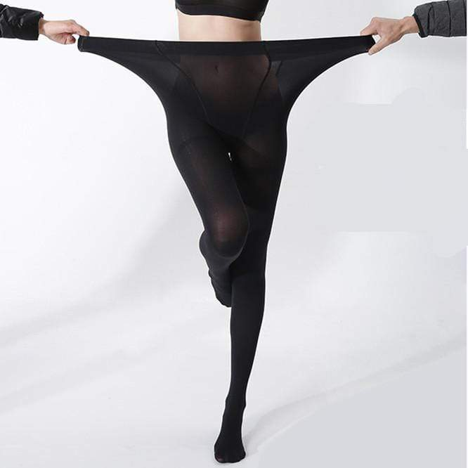 yoyoyoyoga.com Bottom Extra Large / BLACK 4D Shaping High-elastic Stovepipe Pantyhose