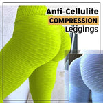 yoyoyoyoga.com Bottom Green / S Anti-Cellulite Compression Sports Leggings