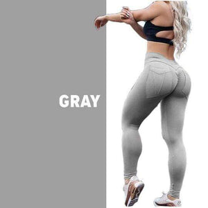 yoyoyoyoga.com Bottom Grey / S Hip Lifting Curve Accentuating Scrunch Leggings