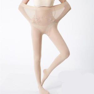 yoyoyoyoga.com Bottom Large / BEIGE 4D Shaping High-elastic Stovepipe Pantyhose