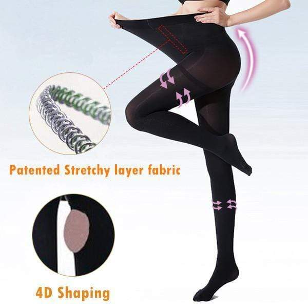yoyoyoyoga.com Bottom Large / BLACK 4D Shaping High-elastic Stovepipe Pantyhose