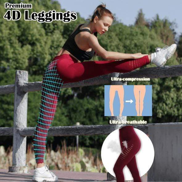 yoyoyoyoga.com Bottom Red / S/M Breathable Squat-proof Anti Cellulite Legging