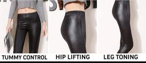 yoyoyoyoga.com Bottom S Ultra-Soft Stretchy Leather Leggings