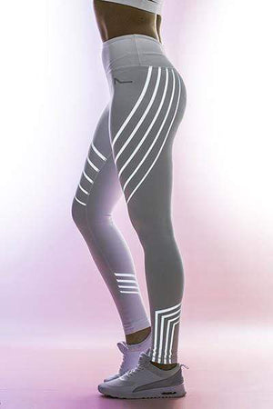 yoyoyoyoga.com Bottom White / S High Waist Hologram Reflexive Toning Leggings