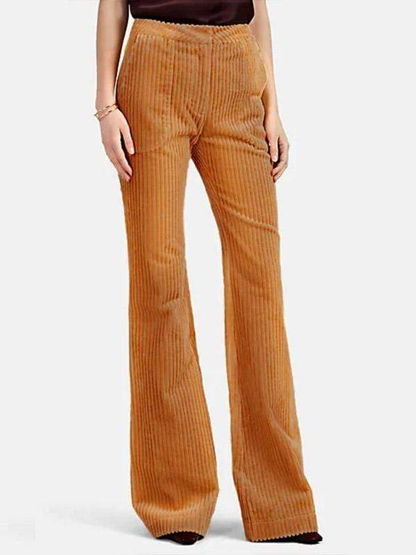 yoyoyoyoga.com Bottoms Brown / S Women's Solid Color Casual Flared Pants