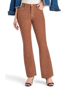 yoyoyoyoga.com Bottoms Camel / S Women's Super Elastic Solid Color Antique Corduroy Light Flare Pants