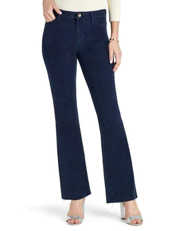 yoyoyoyoga.com Bottoms Deep blue / S Women's Super Elastic Solid Color Antique Corduroy Light Flare Pants