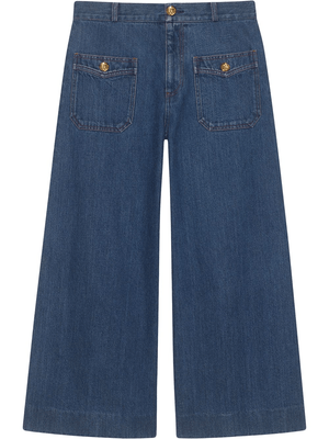 yoyoyoyoga.com Bottoms Denim wide leg pant