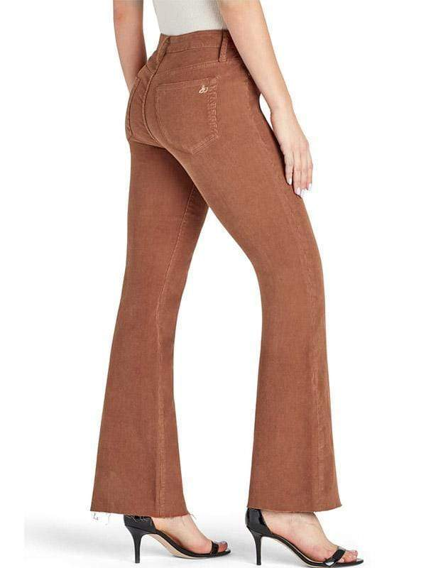 yoyoyoyoga.com Bottoms Women's Super Elastic Solid Color Antique Corduroy Light Flare Pants