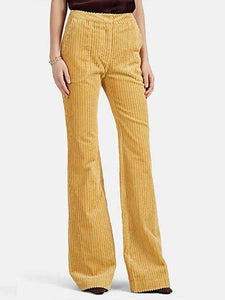 yoyoyoyoga.com Bottoms Yellow / S Women's Solid Color Casual Flared Pants