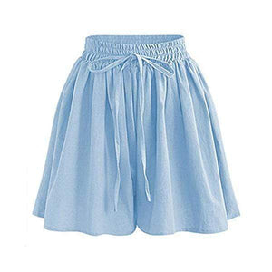 yoyoyoyoga.com Capris&Shorts Light Blue / XS 70s Culottes Casual Loose Skorts With Side Pockets