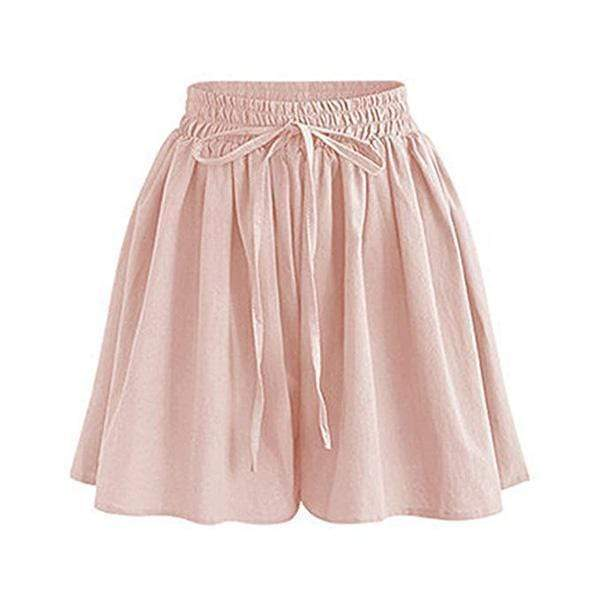 yoyoyoyoga.com Capris&Shorts Pink / XS 70s Culottes Casual Loose Skorts With Side Pockets