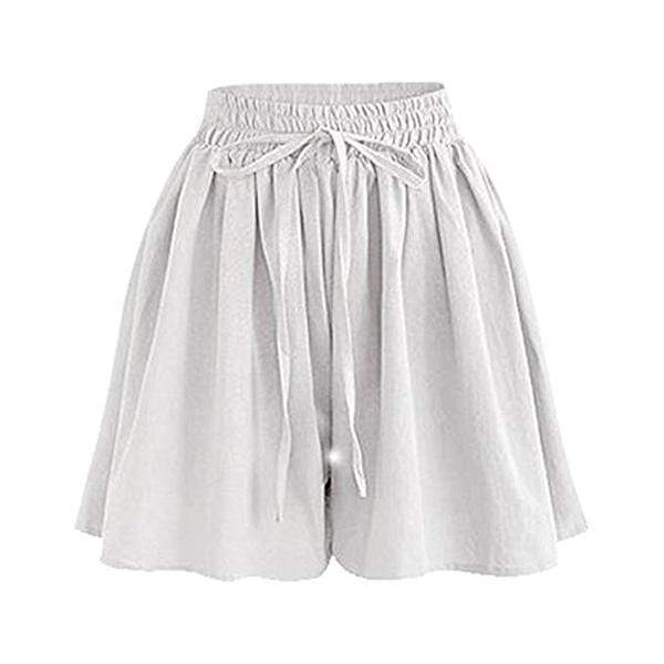 yoyoyoyoga.com Capris&Shorts White / XS 70s Culottes Casual Loose Skorts With Side Pockets