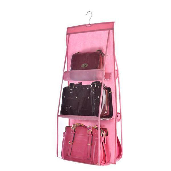 yoyoyoyoga.com Clothes & Accessories PINK Hanging Purse Organizer