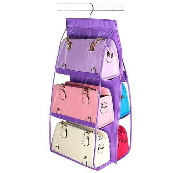 yoyoyoyoga.com Clothes & Accessories PURPLE Hanging Purse Organizer