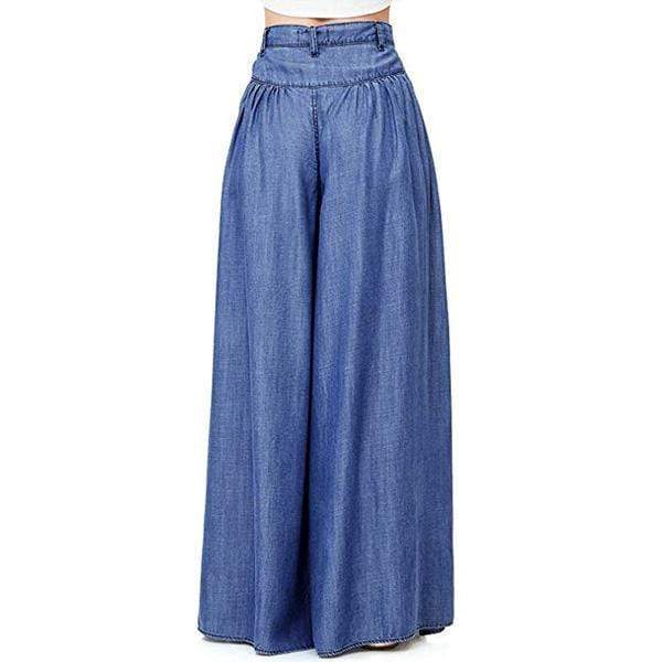 yoyoyoyoga.com Denim 70s Super Wide-leg Soft Denim Palazzo Pants