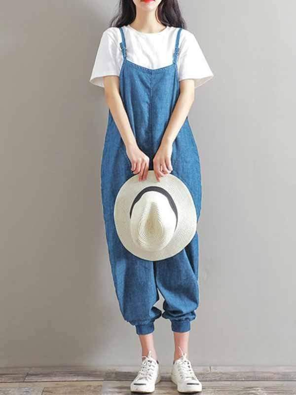 yoyoyoyoga.com Denim Wathet / M Denim jumpsuit