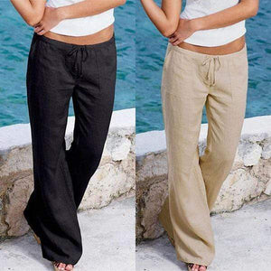 yoyoyoyoga.com Harem Pants Black+Khaki($19.99 per pcs) / S Casual Loose Soft Cotton Bell Bottoms