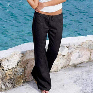 yoyoyoyoga.com Harem Pants Black / S Casual Loose Soft Cotton Bell Bottoms