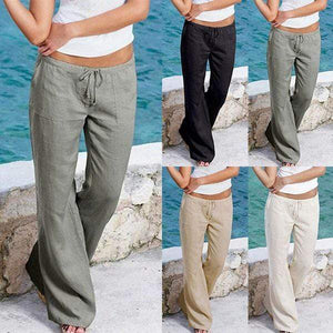 yoyoyoyoga.com Harem Pants Casual Loose Soft Cotton Bell Bottoms