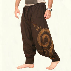 yoyoyoyoga.com Harem Pants Yellow brown / M Printed Solid Color Loose Bloomers