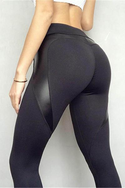 yoyoyoyoga.com Leggings S Heart Shaped Stitching Hip-lifting Leggings