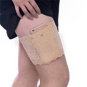 yoyoyoyoga.com PERSONAL HEALTH S / Beige Anti Chafing Lace Thigh Garter Say Goodbye To Skin-To-Skin Chafing & Irritation