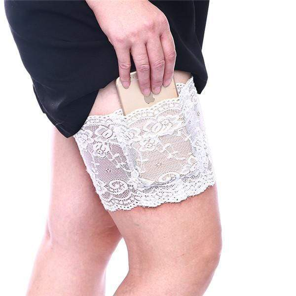 yoyoyoyoga.com PERSONAL HEALTH S / White Anti Chafing Lace Thigh Garter Say Goodbye To Skin-To-Skin Chafing & Irritation
