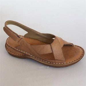 yoyoyoyoga.com Shoes Beige / US5 New Women's Knotted Comfortable Flat Sandals