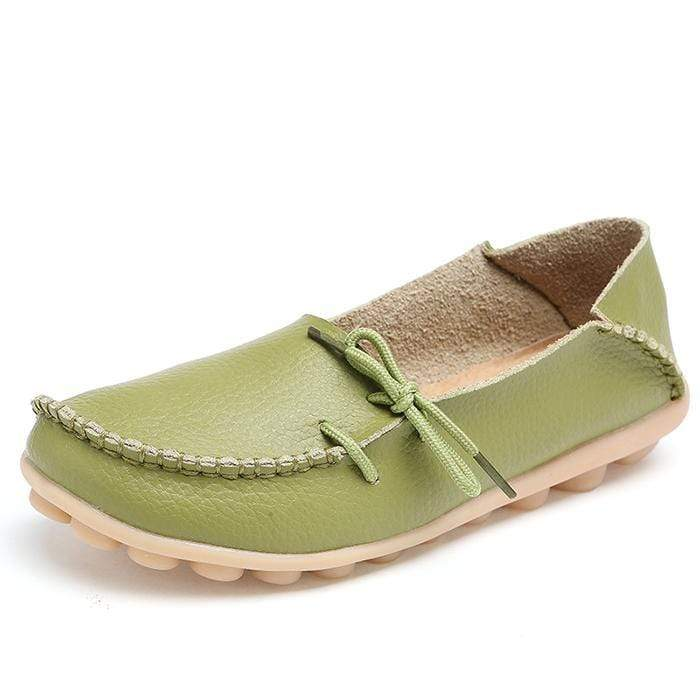 yoyoyoyoga.com Shoes Grass Green / US 5 New Design Heel Pain Relief Massage Flat Shoes
