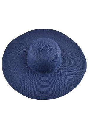 yoyoyoyoga.com Yoga Accessories Navy Blue / One Size Fold-Able Wide Brim Straw Hat