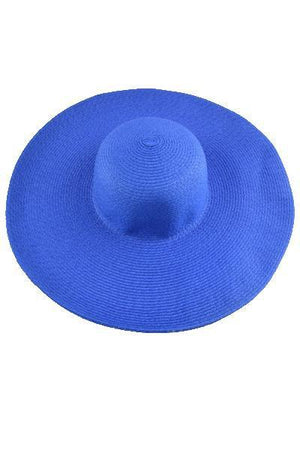 yoyoyoyoga.com Yoga Accessories Royal Blue / One Size Fold-Able Wide Brim Straw Hat
