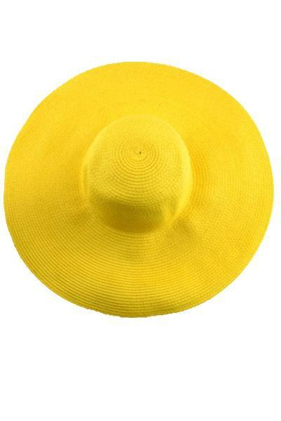 yoyoyoyoga.com Yoga Accessories Yellow / One Size Fold-Able Wide Brim Straw Hat