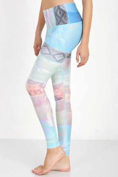 yoyoyoyoga.com Yoga Pants Sky blue / S Blue Yoga Leggings