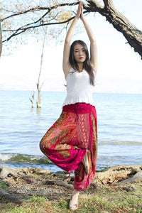 yoyoyoyoga.con Bohemian Pants Rose red / One Size Bohemian Printed Loose Lantern Yoga Pants