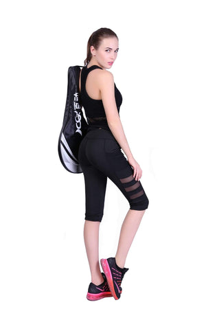 yoyoyoyoga Yoga Pants Cropped trousers / S / Black Quick-drying Mesh Pocket Sports Yoga Leggings