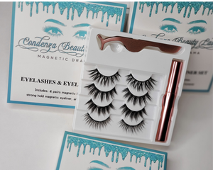 Magnetic Drama Eyelashes & Liner Set - Condenza Beauty